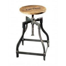 Tabouret Factory Acacia - meuble style industriel