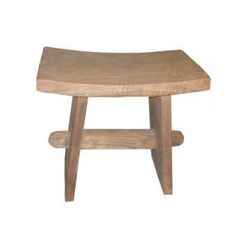 Tabouret Rectangulaire Felix Teck Recyclé - meuble bois massif
