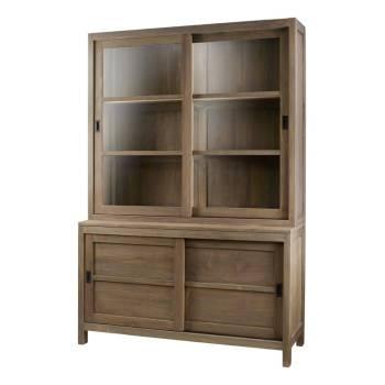 Buffet vaisselier Maestro Teck - meubles bois massif