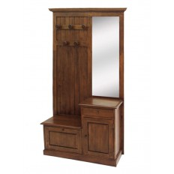 Vestiaire Meuble d'Entrée Tradition Hévéa - meuble style classique