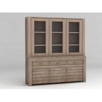 Buffet vaisselier GM Cube Teck - meuble bois exotique