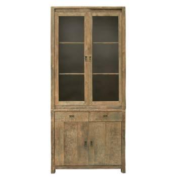Vitrine Felix Teck Recyclé - meuble bois massif