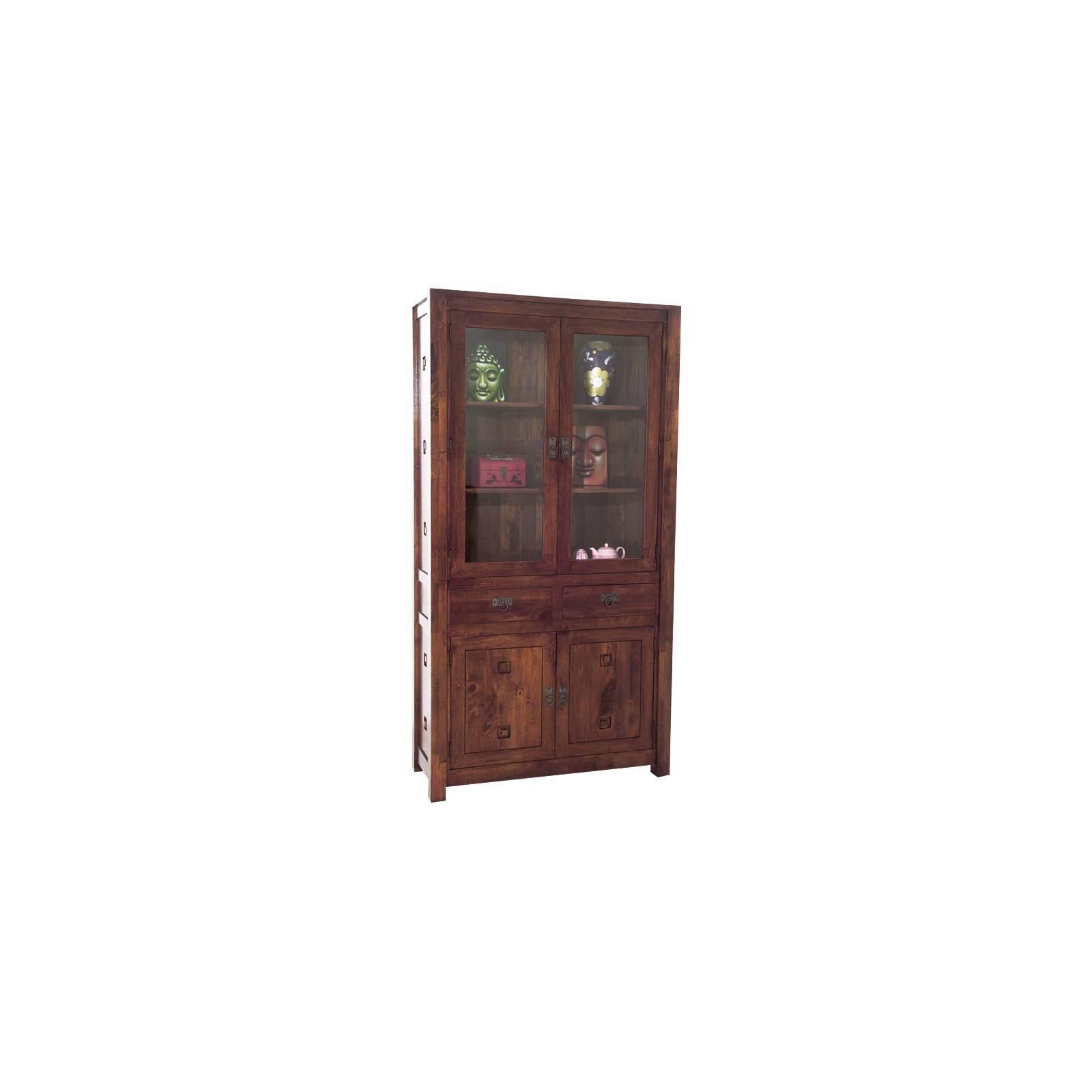 Vitrine Tanoa Hévéa - mobilier bois massif