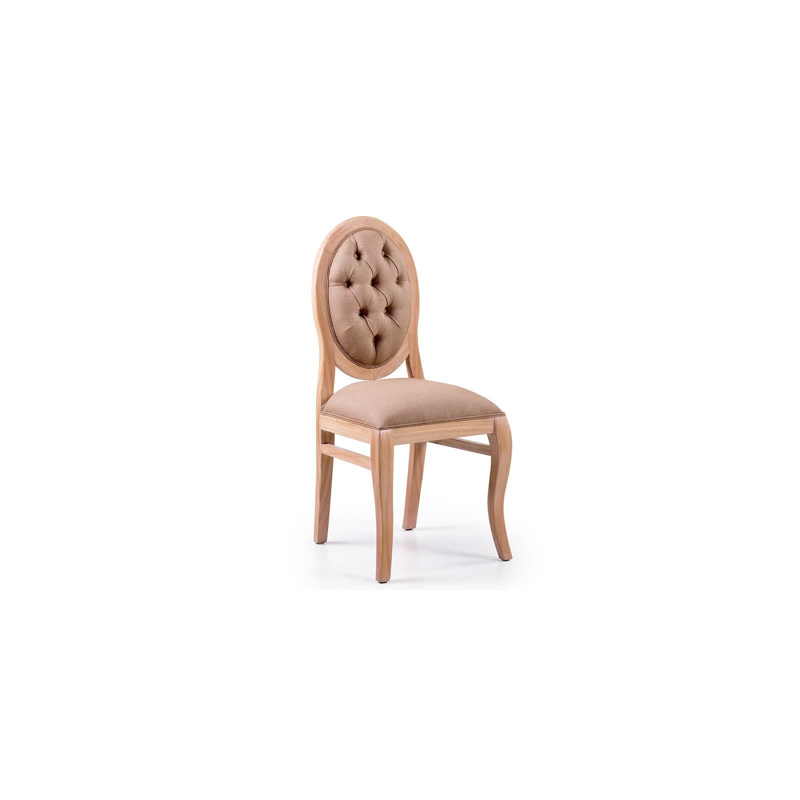 Chaise Capitonnée Oslo Mindy en bois massif - meubles scandinaves