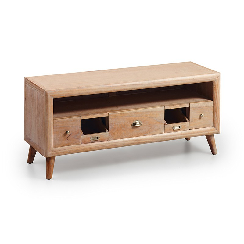 meuble tv en bois massif oslo ambiance nordique pour le salon. Black Bedroom Furniture Sets. Home Design Ideas