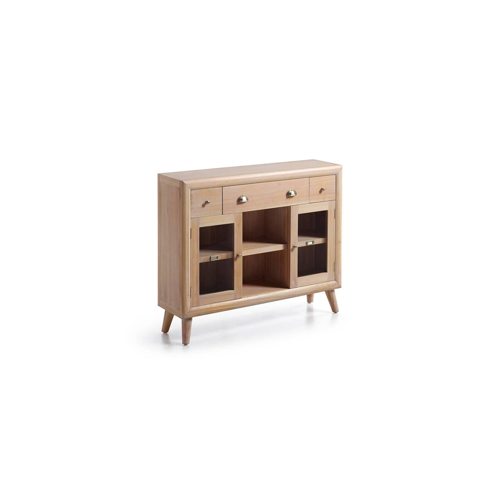 Console Vitrée Oslo Mindy - meubles scandinaves