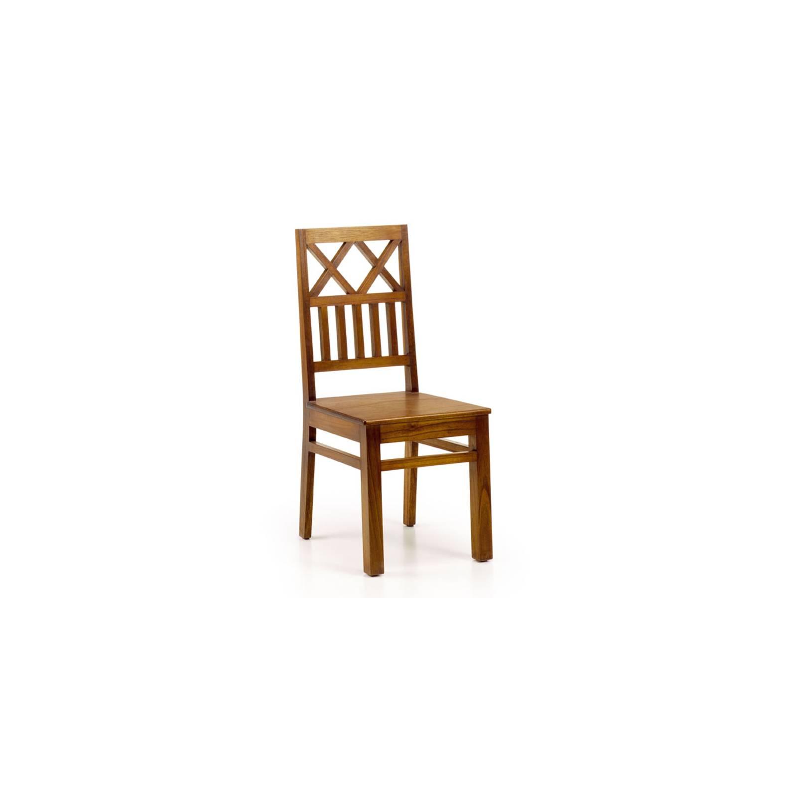 Chaise Croisillons Tali Mindy - meuble bois exotique