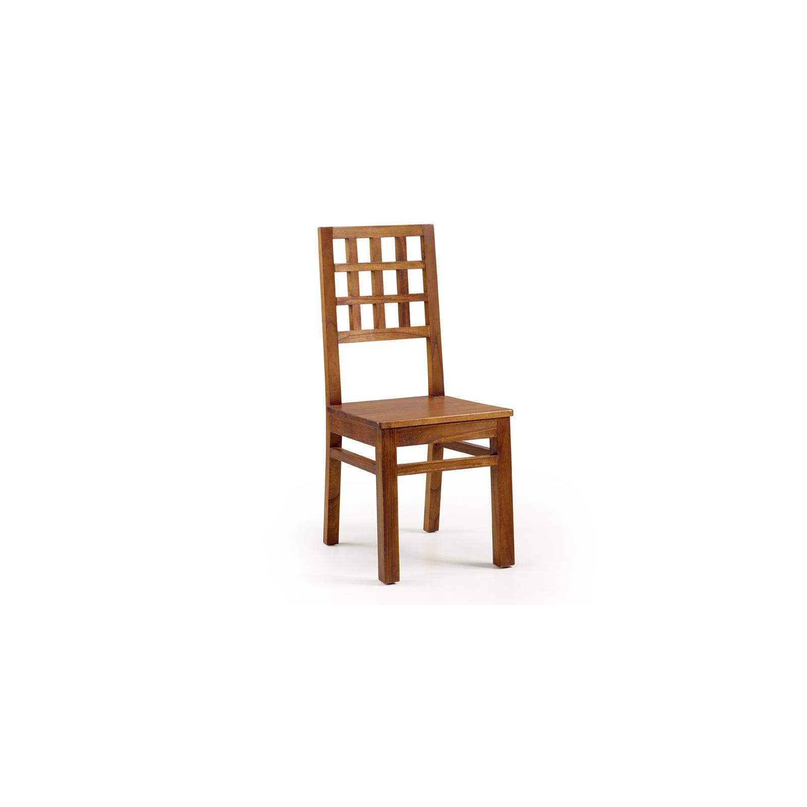 Chaise Carreaux Tali Mindy - meuble bois exotique
