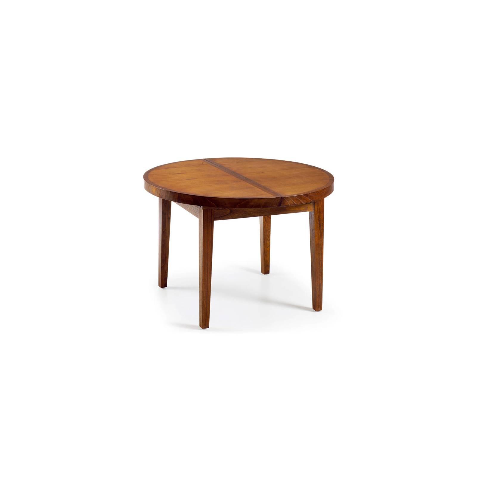 Table De Repas Ronde Rallonges Tali Mindy - meuble bois exotique