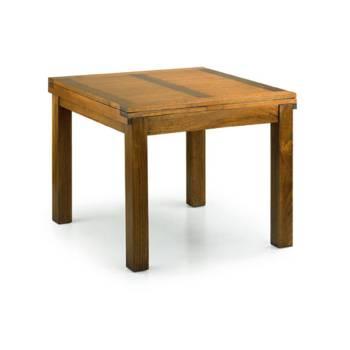 Table De Repas Carrée Rallonge Tali Mindy - meuble bois exotique