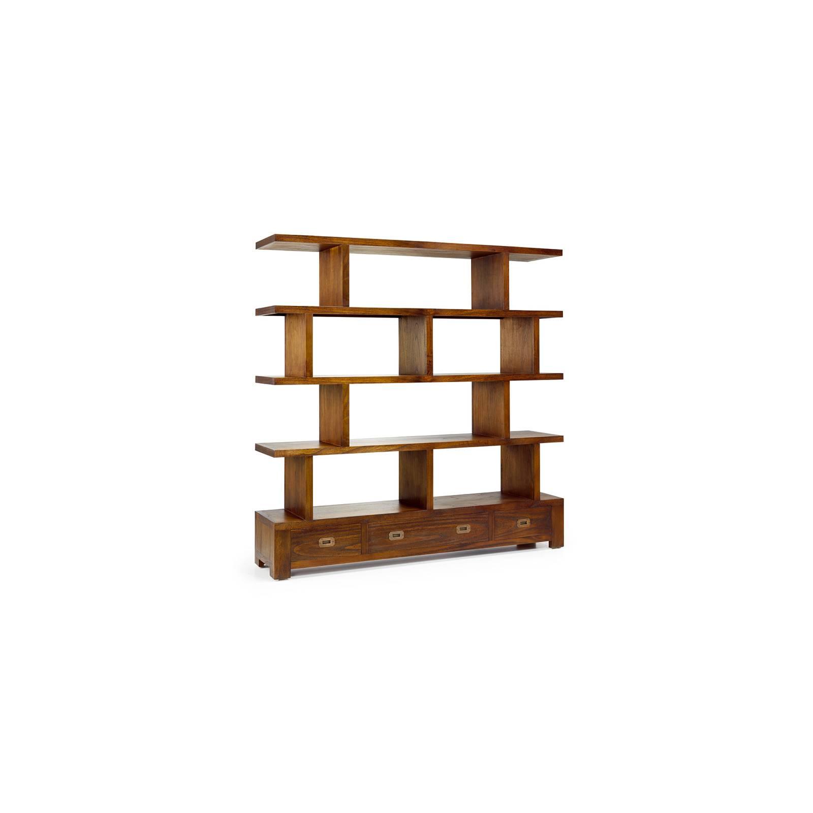 Bibliothèque Asymétrique Tali Mindy - meuble bois exotique