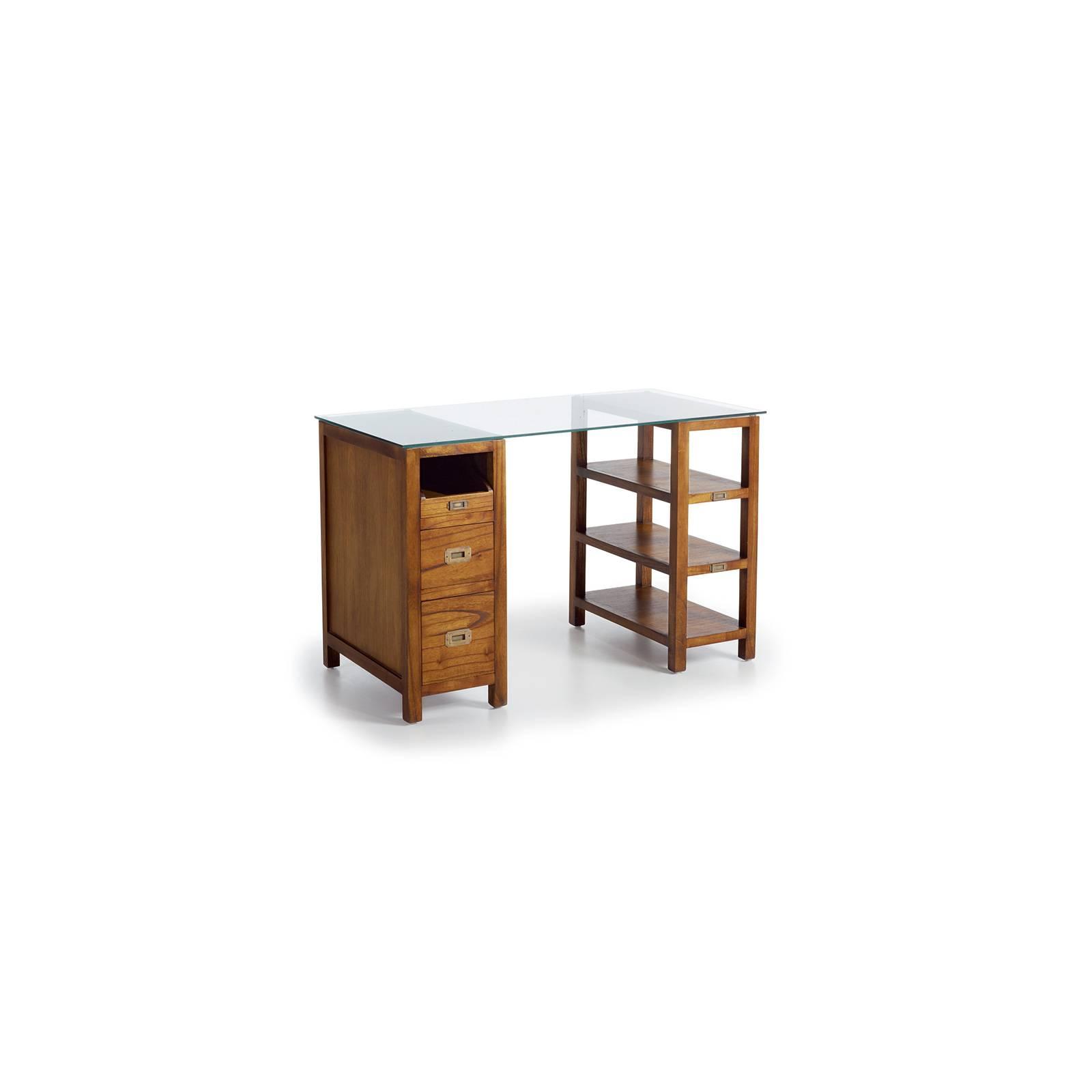 Bureau Verre Tali Mindy - meuble bois exotique