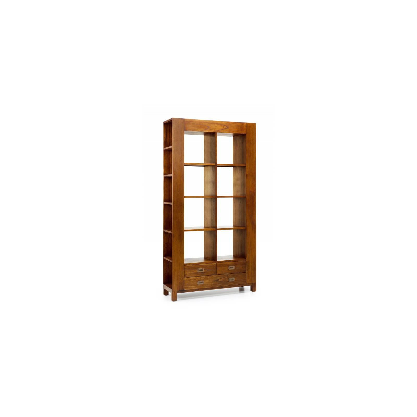 Bibliothèque Trois Tiroirs Tali Mindy - meuble bois exotique