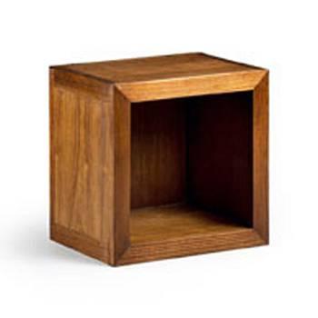Élément Bibliothèque Cube Tali Mindy - meuble bois exotique