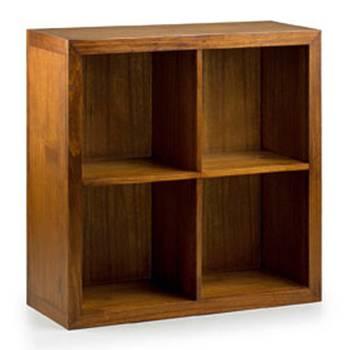 Élément Bibliothèque 4 Étagères Tali Mindy - meuble bois exotique