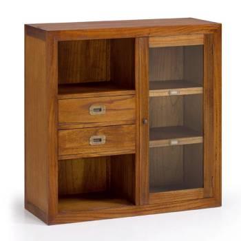 Élément Bibliothèque Mixte Tali Mindy - meuble bois exotique