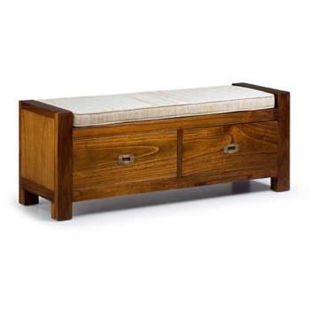 Banc Tiroirs Tali Mindy - meuble bois exotique