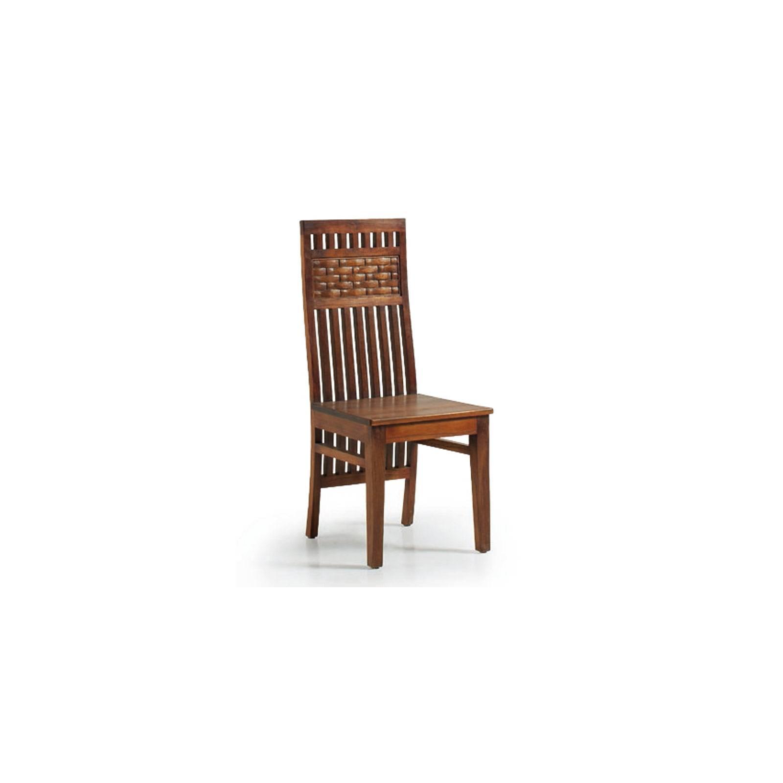 Chaise Motifs Tali Mindy - meuble bois exotique