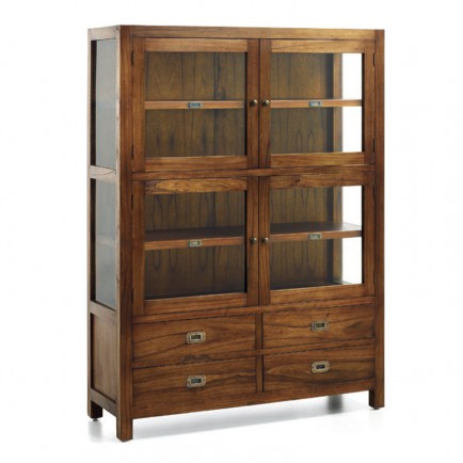 Vitrine 4 Portes Tali Mindy - meuble bois exotique