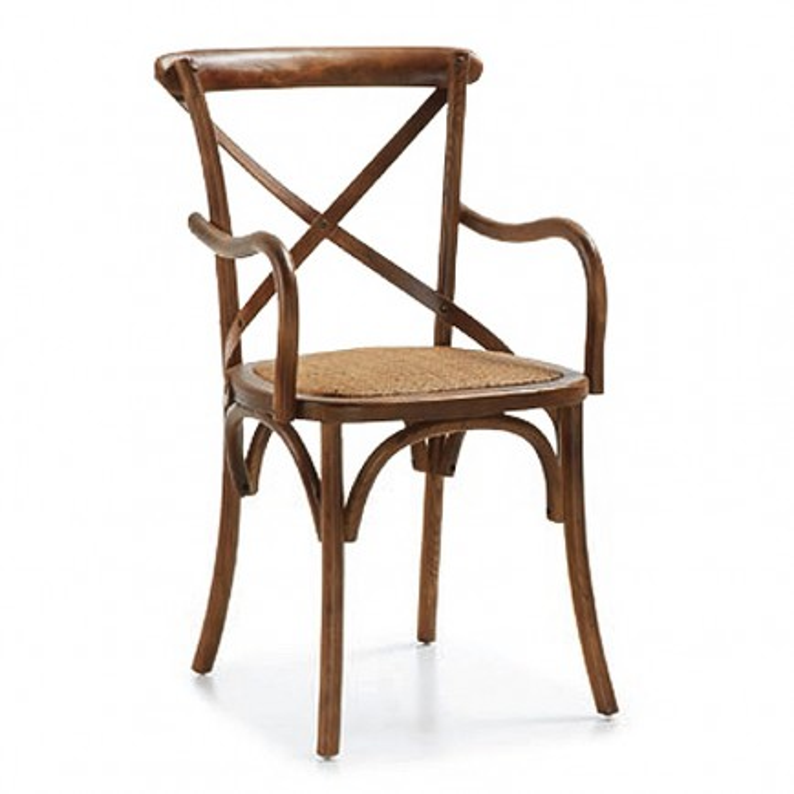 Chaise Accoudoirs Croisillons Tali Mindy - meuble bois exotique