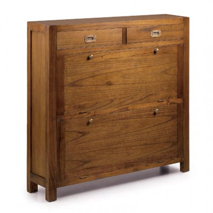 Meuble A Chaussures Style Colonial Mobilier D Entree Tali