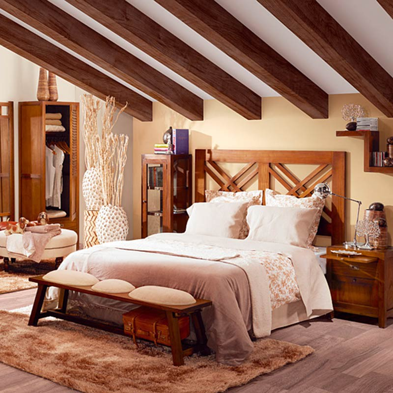 t te de lit en bois exotique tali d co ethnique pour la. Black Bedroom Furniture Sets. Home Design Ideas