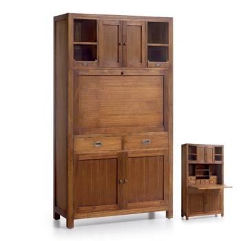 Secrétaire À Abattant Tali Mindy - meuble bois exotique