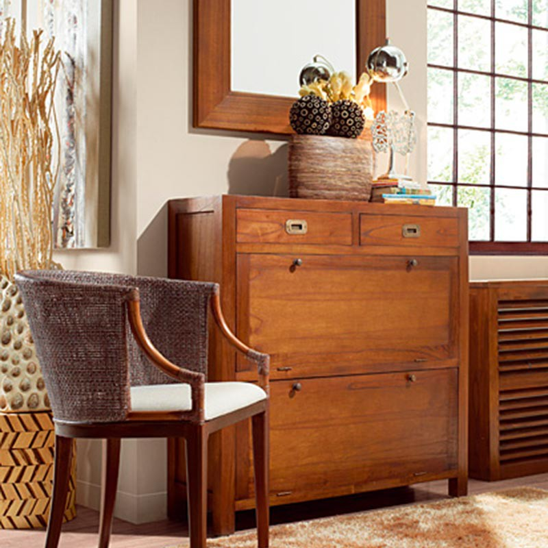 meuble chaussures style colonial. Black Bedroom Furniture Sets. Home Design Ideas