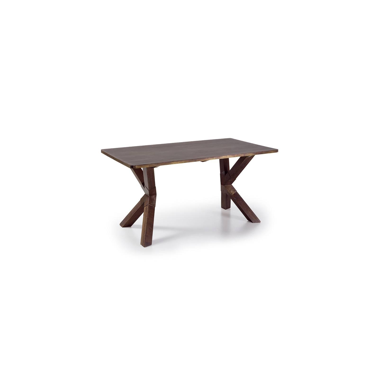 Table De Repas Design Industrial Mindy Massif