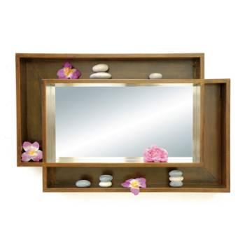 Miroir étagère Hévéa Oméga