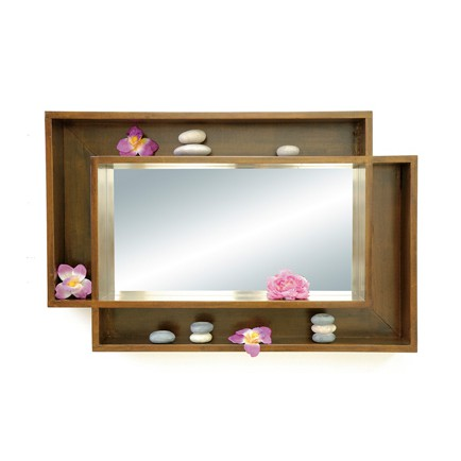 Miroir Etagère Hévéa Oméga - meuble style design