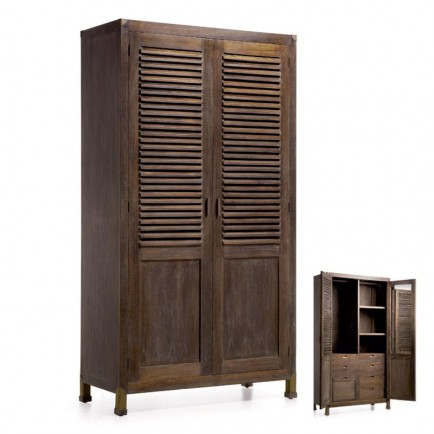 armoire style r tro penderie l 39 esprit industriel. Black Bedroom Furniture Sets. Home Design Ideas