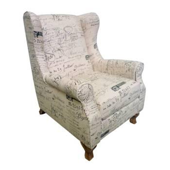 Fauteuil Lounge Alphabet Armand Tissu - fauteuil de salon