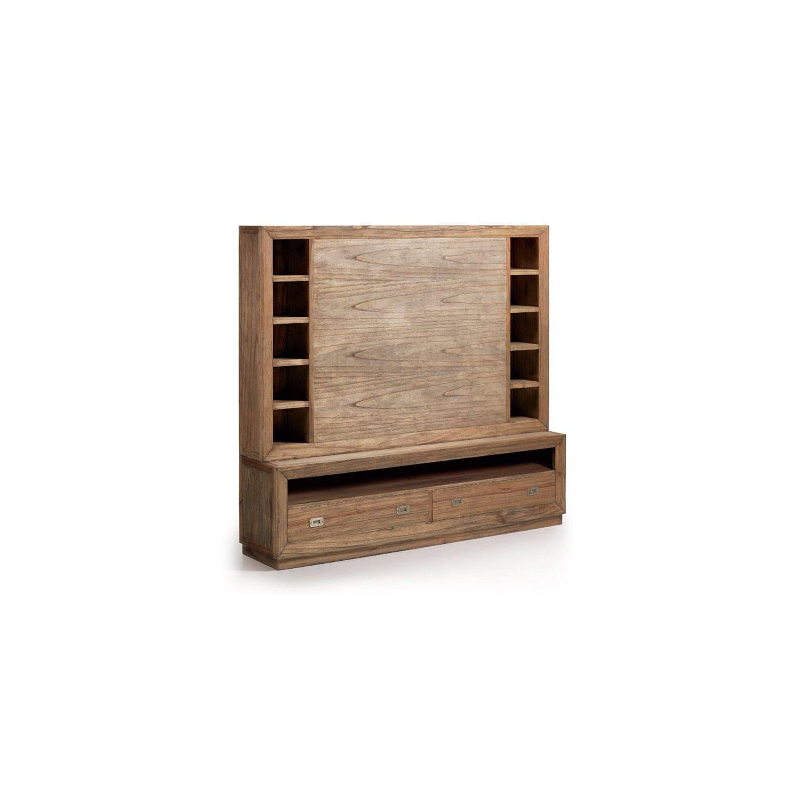 mur tv multim dia bilbao salon au style ethnique. Black Bedroom Furniture Sets. Home Design Ideas