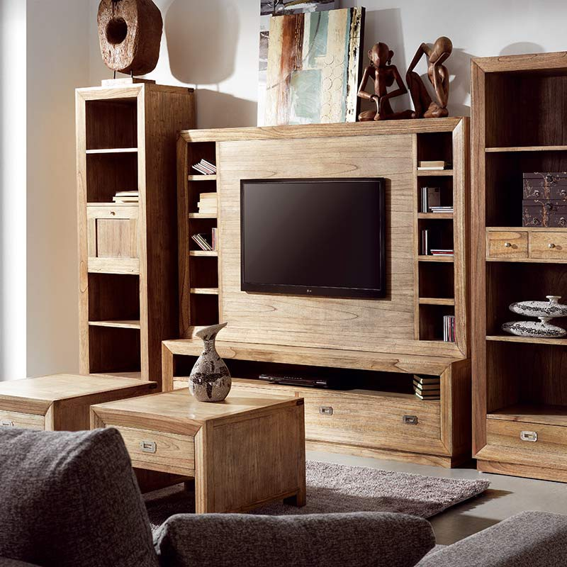 meuble tv bilbao mindy inspiration coloniale pour le salon. Black Bedroom Furniture Sets. Home Design Ideas