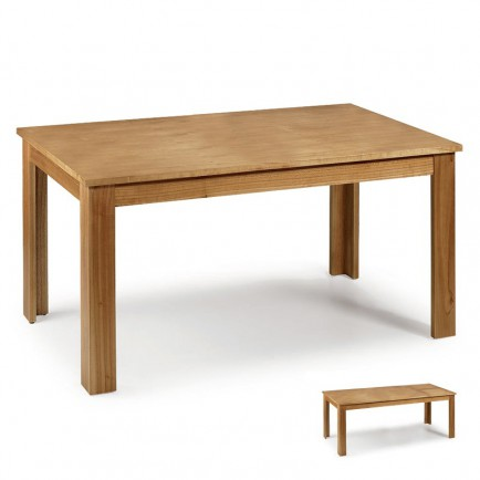 Table de repas rallonge en bois massif Mindy Beaubois