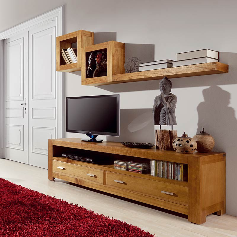 Tag re murale cube beaubois petit meuble tendance - Etagere murale salon ...