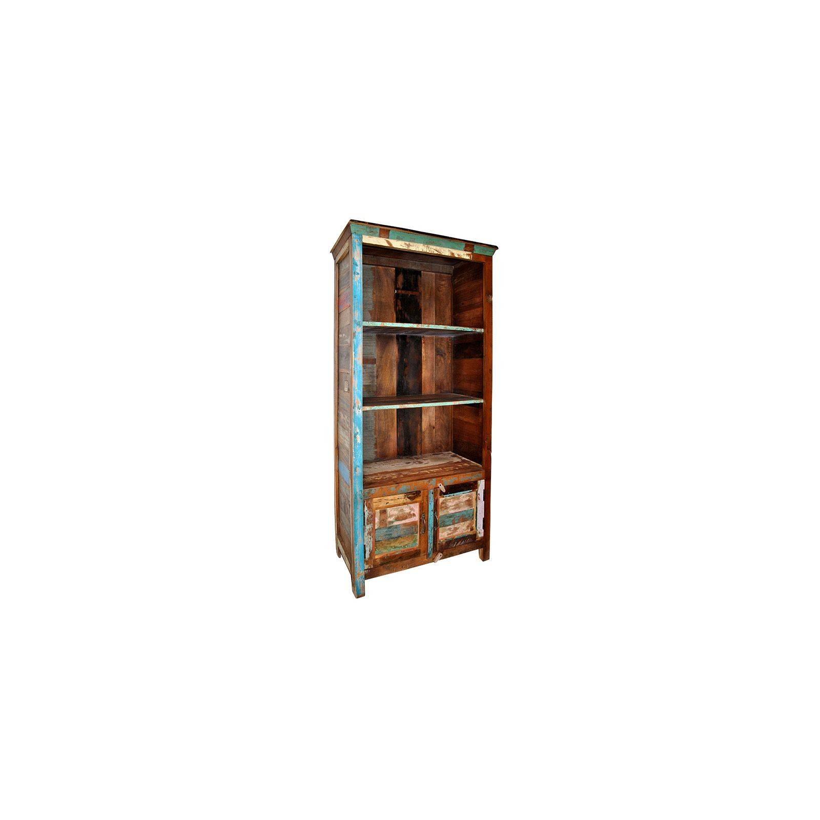Bibliothèque Teck Origine. Bois recyclé.