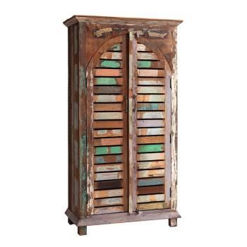 Armoire Origine Teck. Meuble de rangement en bois recyclé.