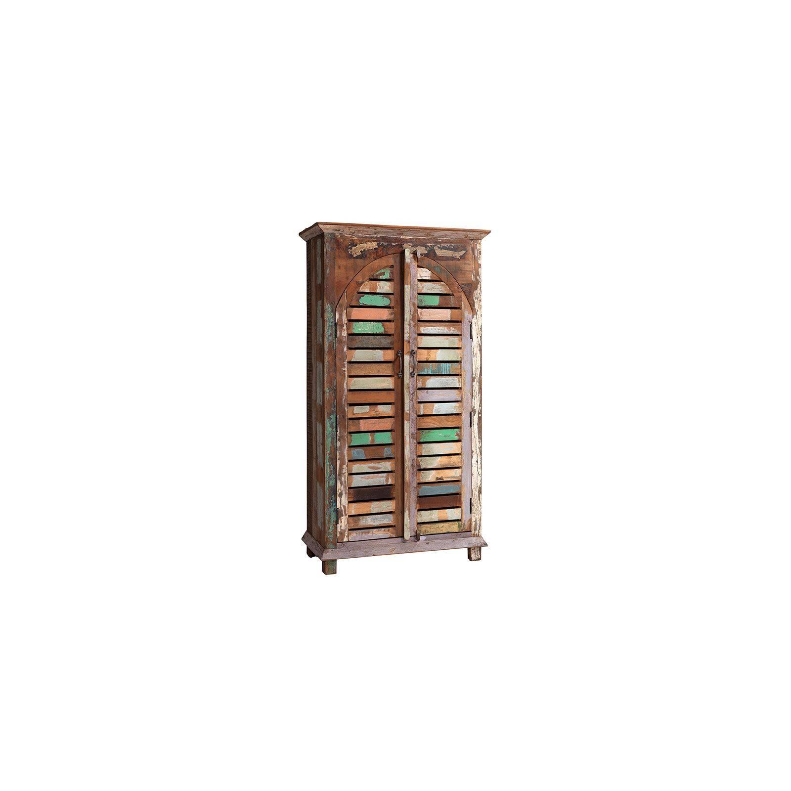 Armoire Teck Origine. Meuble de rangement en bois recyclé.