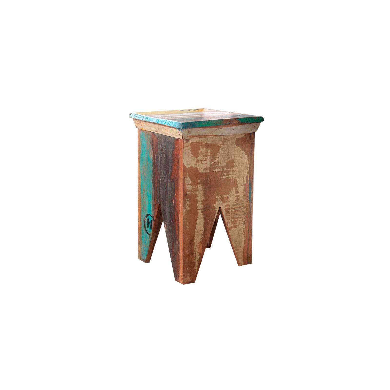 Tabouret Teck Origine. Achat de meuble en bois massif.