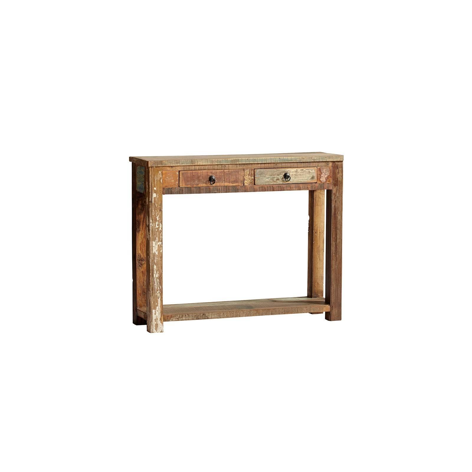 Console Teck Origine. Meuble en bois recyclé.