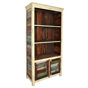 Bibliothèque Cancun Teck. Achat de meuble en bois recyclé.