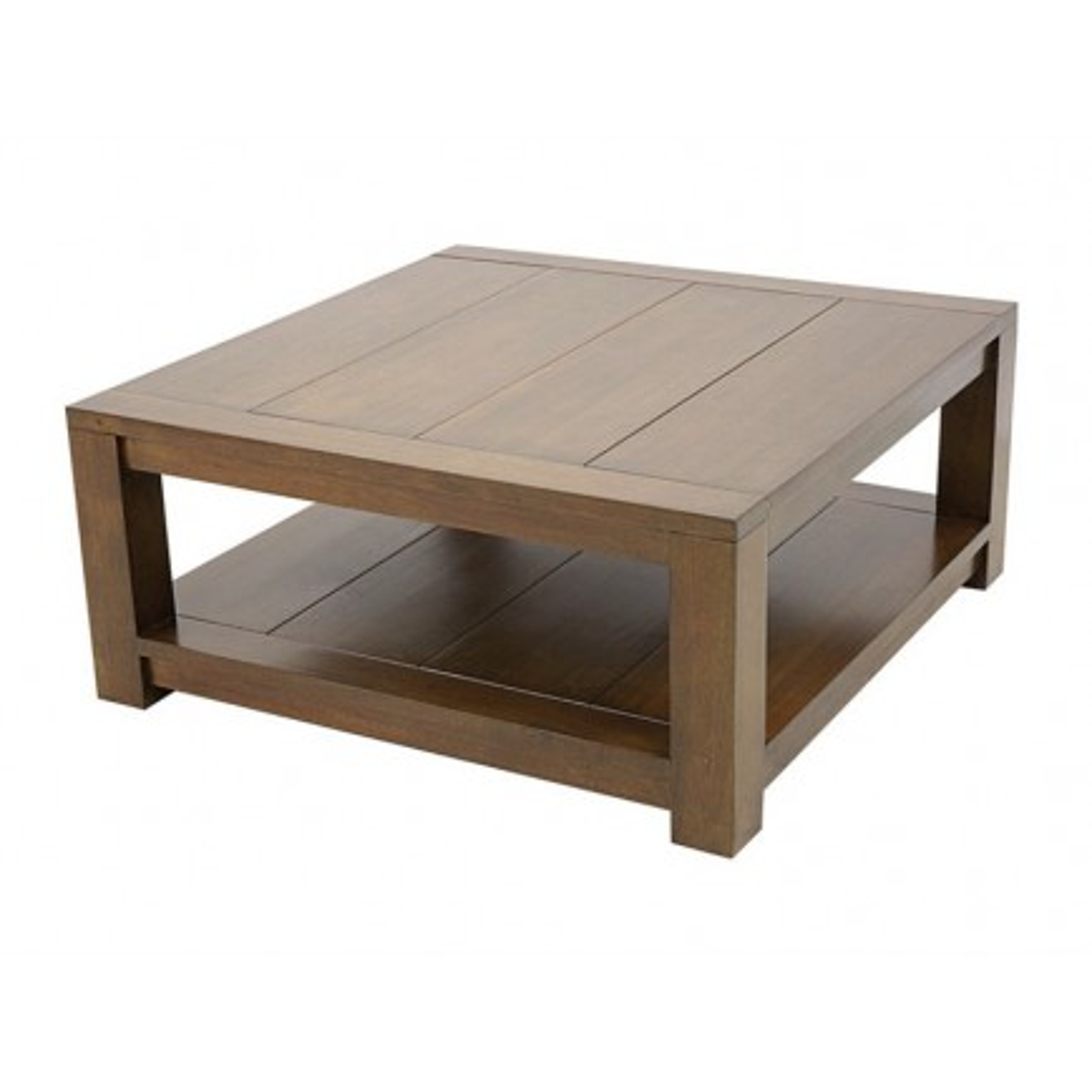 Table Basse Double Plateau Broadway Hévéa - meuble bois massif