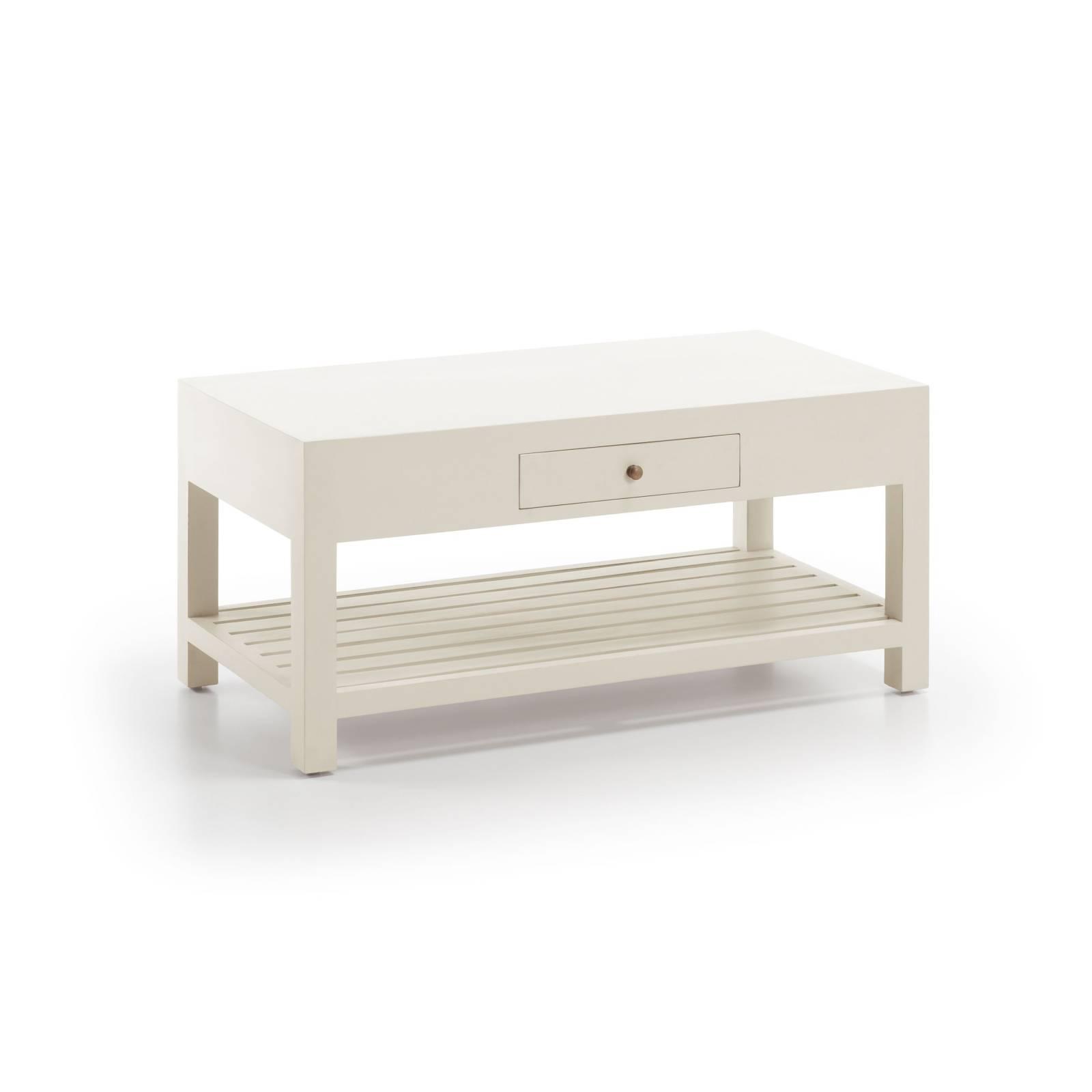 Table basse rectangulaire Sydney Acajou. Tendance bord de mer.