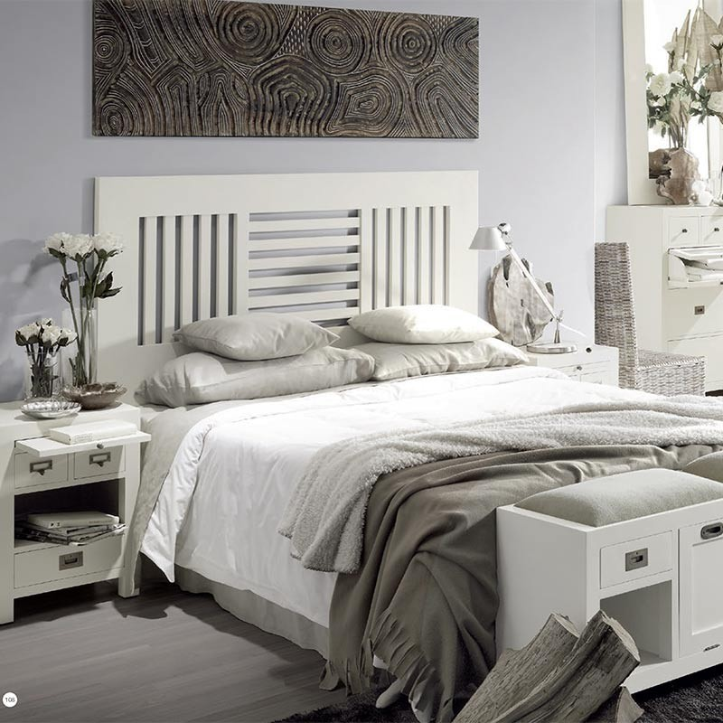 t te de lit blanche barreaux sydney chambre classique. Black Bedroom Furniture Sets. Home Design Ideas