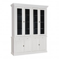 Buffet vaisselier Victoria Pin - meuble shabby chic