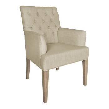 Chaise à accoudoirs Romero Tissu