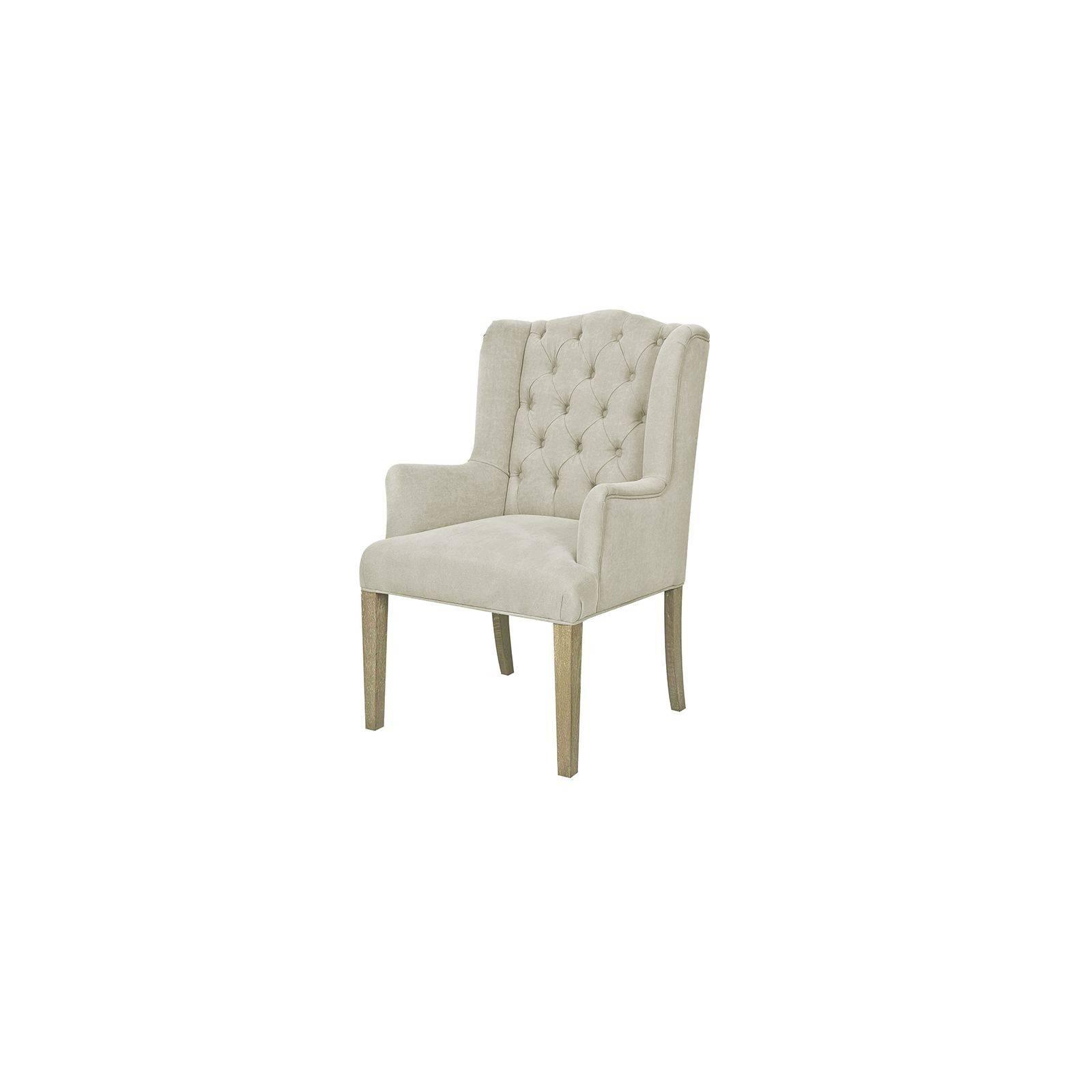 chaise capitonnee avec accoudoir