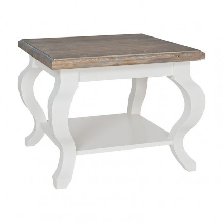 Table basse carrée Queen Victoria Pin Massif - Table basse bois massif